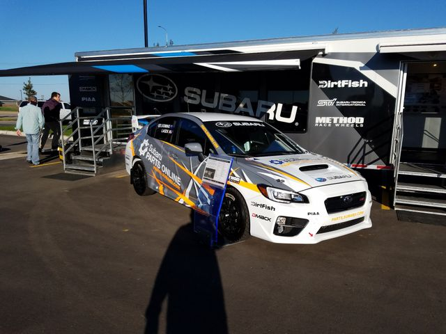 Subie race cars at SF Subaru grand opening