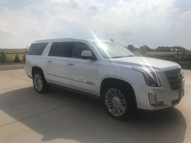 2016 Cadillac Escalade ESV Platinum, Crystal White Tricoat (White), 4x4