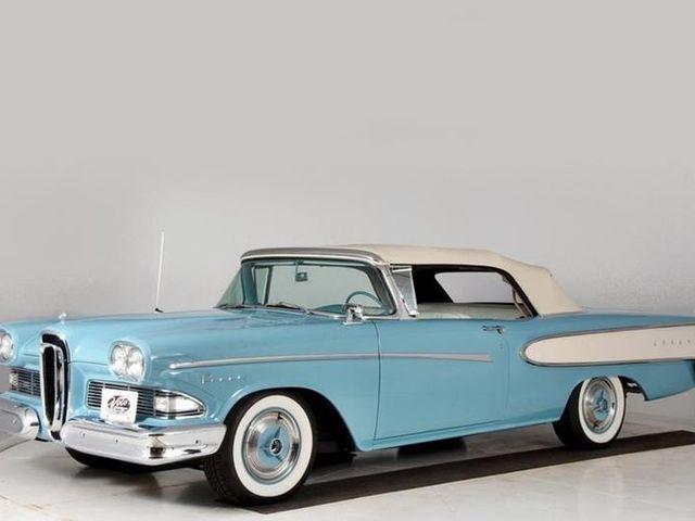 1958 (Edsel), Blue, Rear Wheel